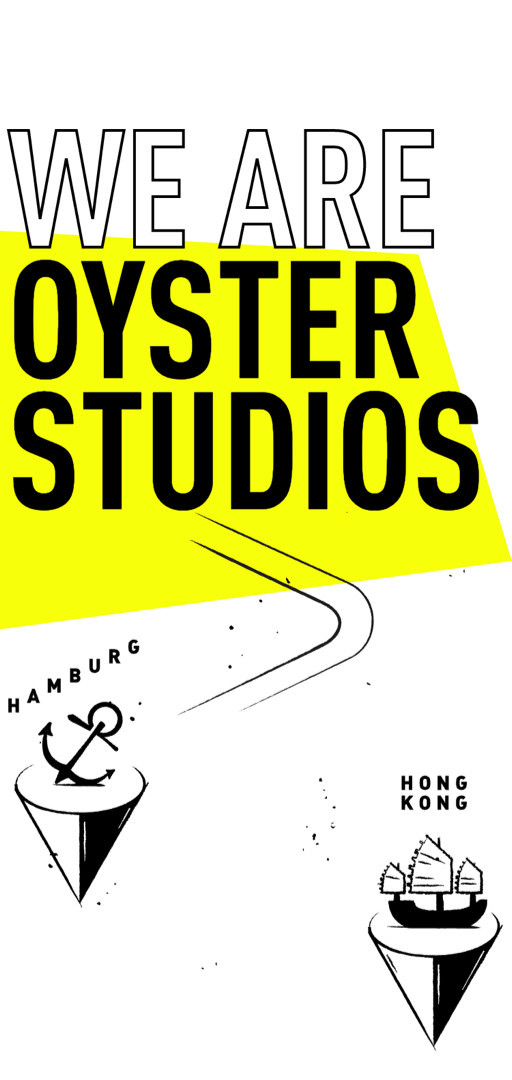 Oyster Landingpage - We are Oyster Studios (Mobile Ansicht)