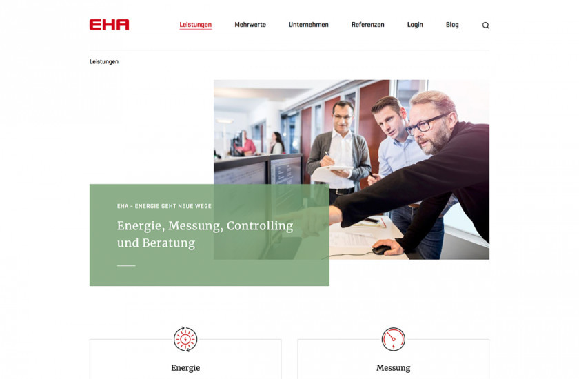 services page on EHA website