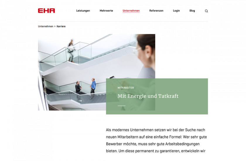 about page on EHA website