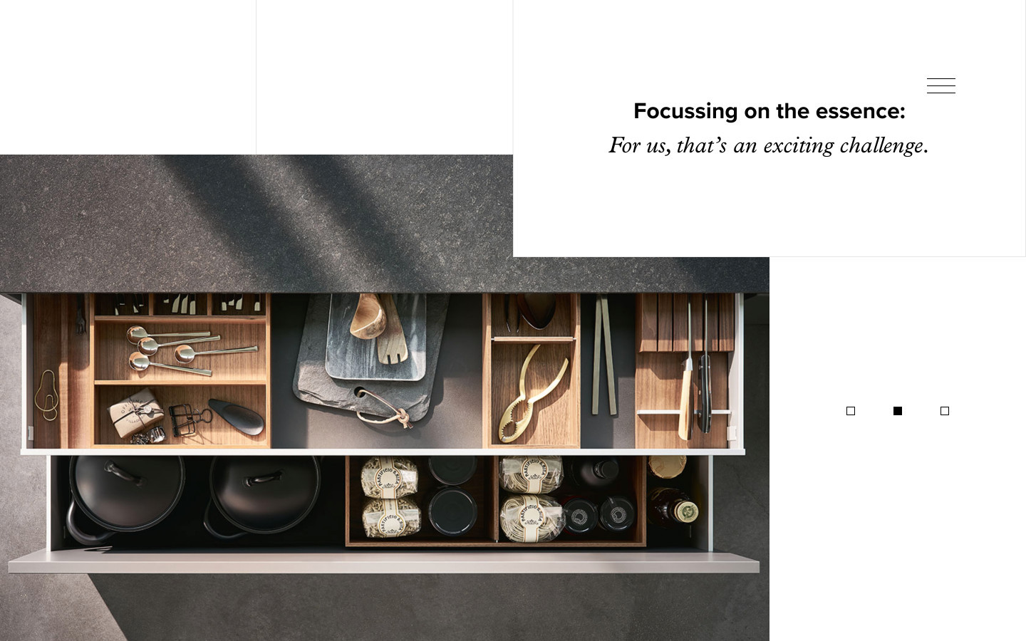 "Poggenpohl Website Detail ""Focussing on the essence …"""